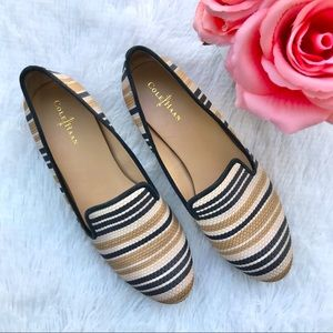 COLE HAAN flats loafers striped